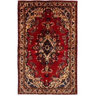 eCarpetGallery  Hand-knotted Hamadan Red Wool Rug - 4'7 x 7'5
