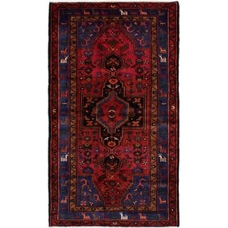 eCarpetGallery Hand-knotted Hamadan Red Wool Rug - 4'6 x 7'10