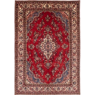 eCarpetGallery  Hand-knotted Mahal Red Wool Rug - 6'10 x 10'1