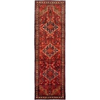 eCarpetGallery  Hand-knotted Hamadan Red Wool Rug - 3'6 x 11'8