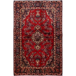eCarpetGallery  Hand-knotted Mahal Red Wool Rug - 4'7 x 7'0