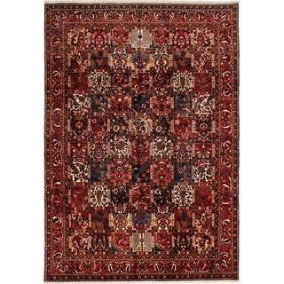 eCarpetGallery  Hand-knotted Bakhtiar Red Wool Rug - 7'9 x 11'0