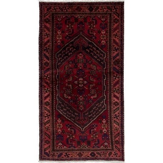 eCarpetGallery  Hand-knotted Hamadan Red Wool Rug - 4'0 x 7'7