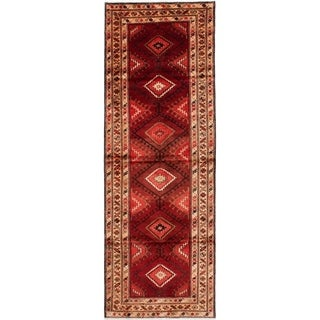 eCarpetGallery  Hand-knotted Hamadan Red Wool Rug - 3'6 x 10'3