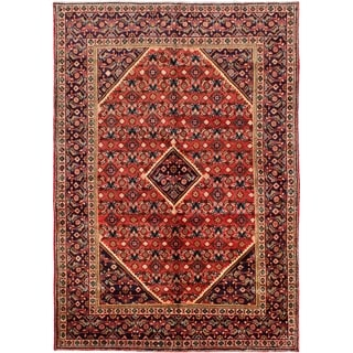 eCarpetGallery  Hand-knotted Mahal Dark Copper Wool Rug - 6'10 x 9'11