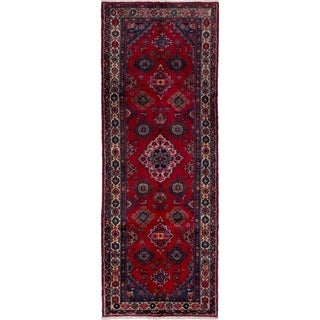 eCarpetGallery  Hand-knotted Hamadan Red Wool Rug - 3'5 x 9'6