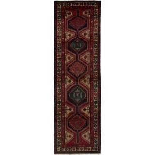 eCarpetGallery  Hand-knotted Ardabil Red Wool Rug - 3'2 x 10'9