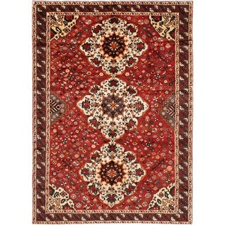eCarpetGallery  Hand-knotted Bakhtiar Red Wool Rug - 7'2 x 10'0