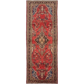 eCarpetGallery  Hand-knotted Hamadan Red Wool Rug - 3'5 x 9'9