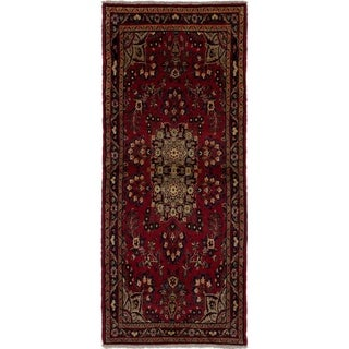 eCarpetGallery  Hand-knotted Hamadan Red Wool Rug - 3'5 x 8'2