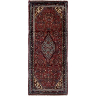 eCarpetGallery  Hand-knotted Mahal Red Wool Rug - 3'5 x 8'4