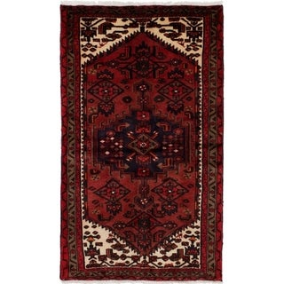 eCarpetGallery  Hand-knotted Hamadan Red Wool Rug - 3'1 x 5'4