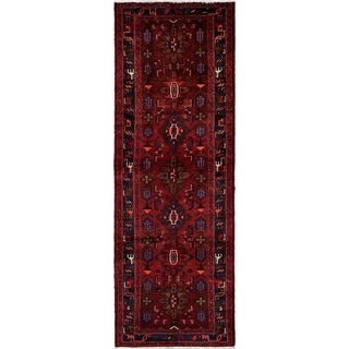 eCarpetGallery  Hand-knotted Hamadan Red Wool Rug - 3'4 x 9'10