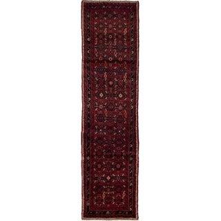 eCarpetGallery  Hand-knotted Hamadan Dark Red Wool Rug - 2'6 x 9'10