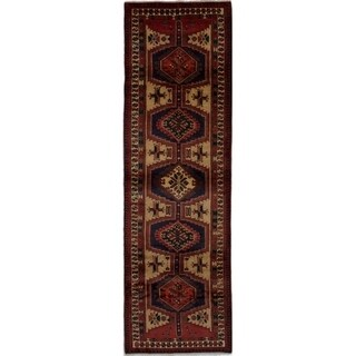 eCarpetGallery  Hand-knotted Ardabil Beige Wool Rug - 3'3 x 11'2