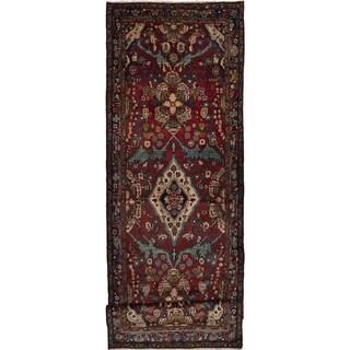 eCarpetGallery  Hand-knotted Lilihan Dark Red Wool Rug - 3'9 x 11'2