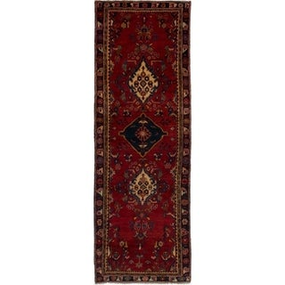 eCarpetGallery  Hand-knotted Hamadan Red Wool Rug - 3'1 x 9'2