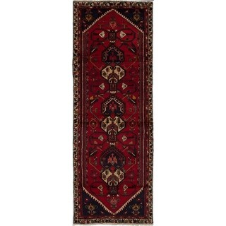 eCarpetGallery  Hand-knotted Hamadan Red Wool Rug - 3'5 x 9'10