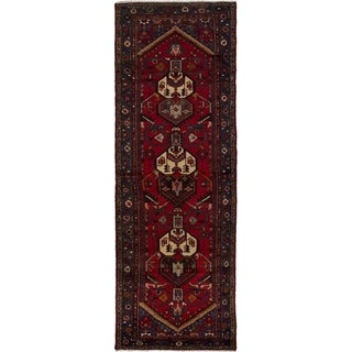 eCarpetGallery  Hand-knotted Hamadan Red Wool Rug - 3'3 x 9'10