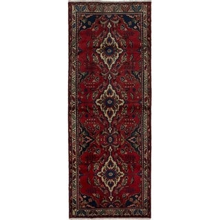 eCarpetGallery  Hand-knotted Hamadan Red Wool Rug - 3'7 x 9'8