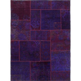 eCarpetGallery  Hand-knotted Vogue Patch Indigo Wool Rug - 4'11 x 6'7