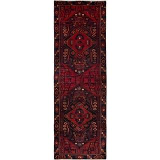 eCarpetGallery  Hand-knotted Hamadan Dark Navy, Red Wool Rug - 3'3 x 10'0
