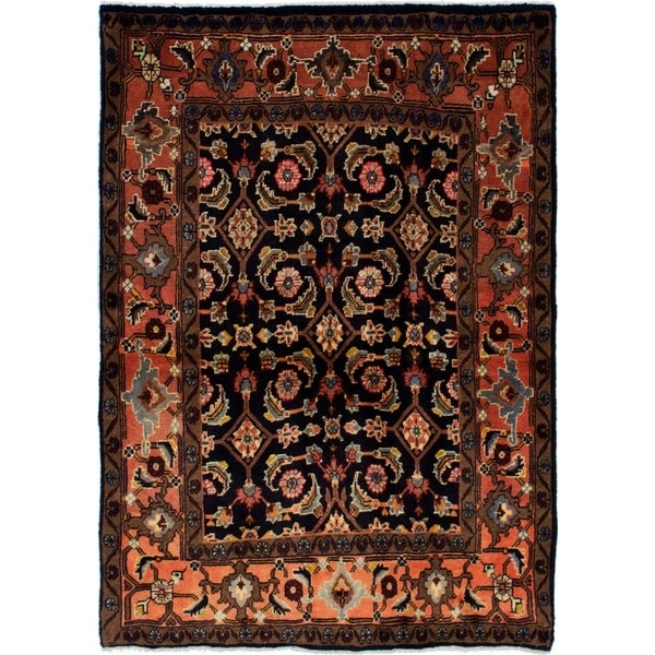 eCarpetGallery Hand-knotted Mahal Dark Navy Wool Rug - 3'4 x 4'8