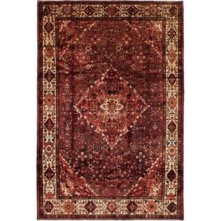 eCarpetGallery  Hand-knotted Hamadan Dark Navy, Red Wool Rug - 6'8 x 10'0