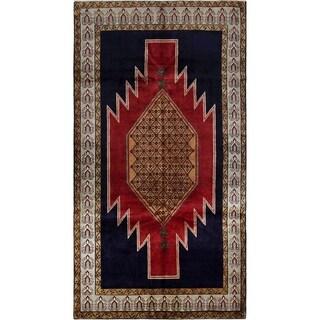 eCarpetGallery  Hand-knotted Ardabil Dark Navy, Red Wool Rug - 5'1 x 9'8