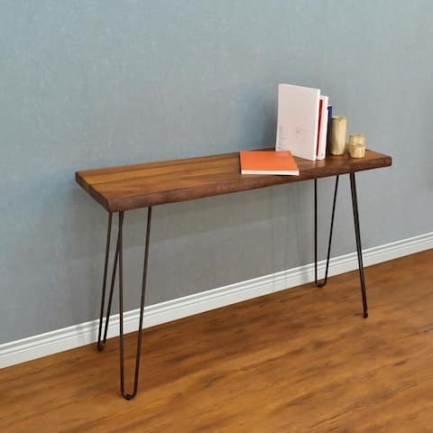 222 Fifth Gresham Brown Live Edge Console Table