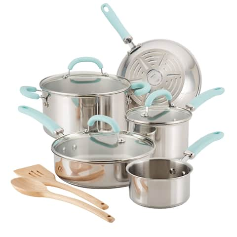 Rachael Ray Create Delicious Stainless Steel 10-Piece Cookware Set