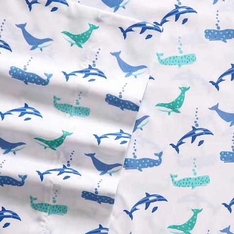 Porch & Den Gladys Printed Whale Pattern Sheet Set