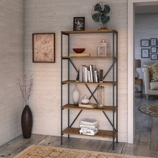 Ironworks Etagere Bookcase from kathy ireland Home by Bush Furniture