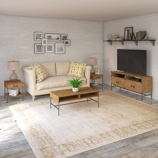 Ironworks TV Stand with Table Set from kathy ireland Home by Bush Furniture