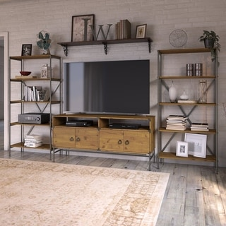 Ironworks TV Stand with Bookcases from kathy ireland Home by Bush