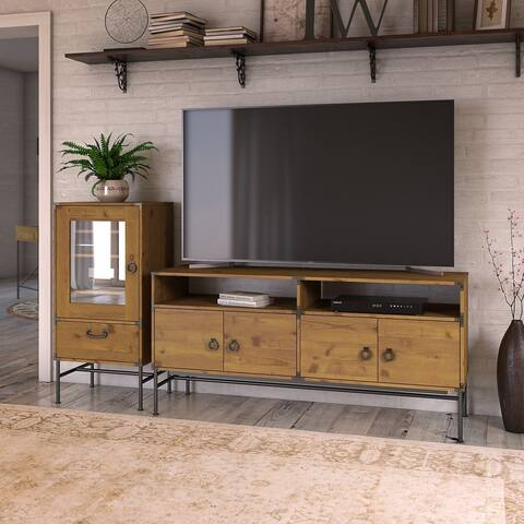 Ironworks TV Stand with Cabinet from kathy ireland Home by Bush Furniture