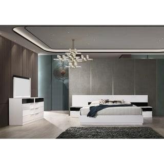 Best Master Furniture 5 Pieces Black/ White Platform Bedroom Set