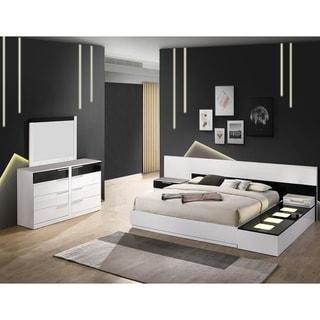 Best Master Furniture 6 Pieces Black/ White Platform Bedroom Set