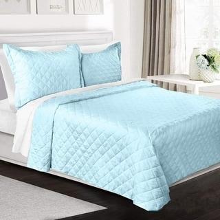 Clara Clark Luxury Box Stitch Quilt Coverlet Set