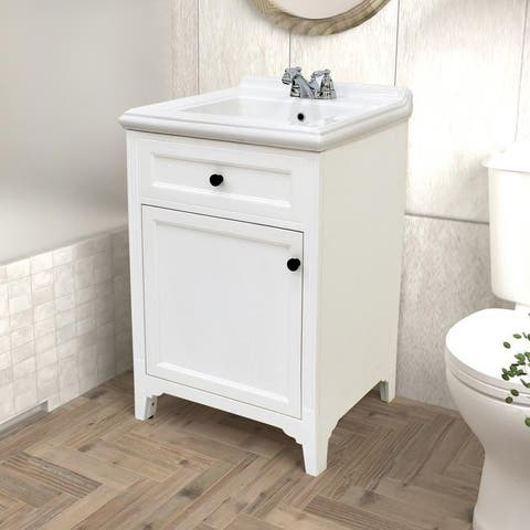 222 Fifth Hamilton White Bathroom Vanity