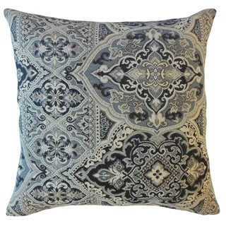 Xuxa Damask Throw Pillow Onyx