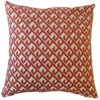 Tadewi Crewel Throw Pillow Cayenne