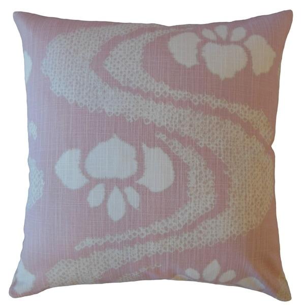 Panchali Ikat Throw Pillow Pink
