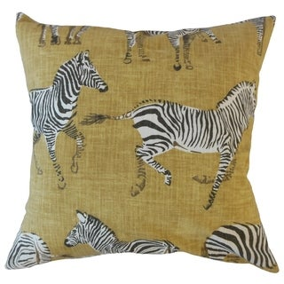 Ogden Animal Print Throw Pillow Gold
