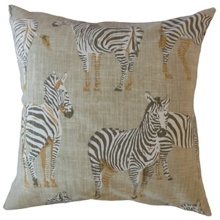 Fadri Animal Print Throw Pillow Putty