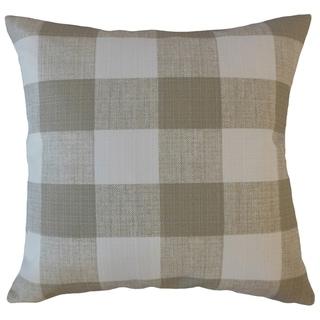 Oormi Plaid Throw Pillow Coconut