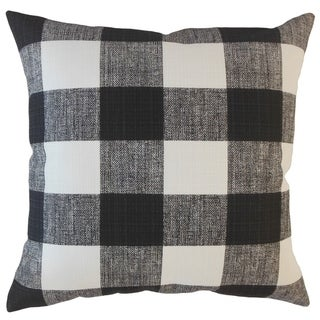 Oormi Plaid Throw Pillow Matte