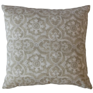 Parmida Damask Throw Pillow Coconut