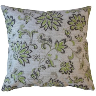 Farica Floral Throw Pillow Greenery