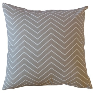 Adelphie Zigzag Throw Pillow Ecru